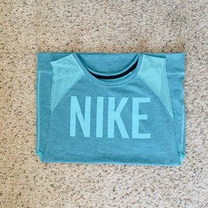 Nike Bright Turquoise Mesh Sleeveless Sweatshirt
